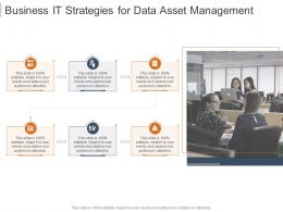 Business It Strategies For Data Asset Management Infographic Template