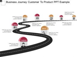 Business Journey Customer To Product Ppt Example