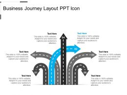 Business Journey Layout Ppt Icon