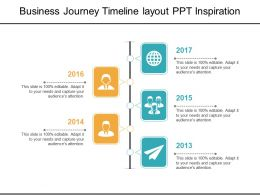Business Journey Timeline Layout Ppt Inspiration