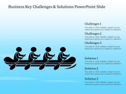 Business Key Challenges And Solutions Powerpoint Slide
