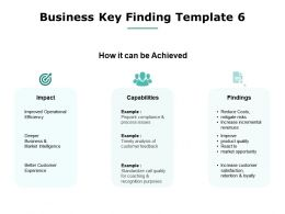 Business Key Finding Capabilities Operational Efficiency Ppt Powerpoint Presentation File Guidelines