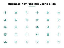 Business Key Findings Icons Slide Arrows Threat C866 Ppt Powerpoint Presentation File Shapes