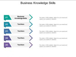 Business Knowledge Skills Ppt Powerpoint Presentation Outline Background Cpb