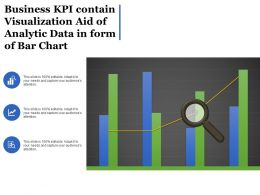 Business Kpi Contain Visualization Aid Of Analytic Data In Form Of Bar Chart