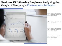 Business Kpi Showing Employee Analysing The Graph Of Companys Performance Indicator