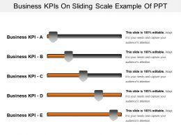 Business Kpis On Sliding Scale Example Of Ppt