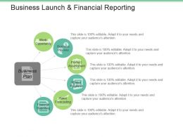 Business Launch And Financial Reporting Good Ppt Example
