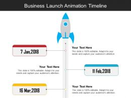 Business Launch Animation Timeline