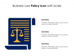 Business Law Policy Icon With Scale