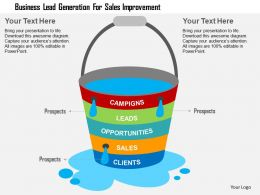 Business Lead Generation For Sales Improvement Flat Powerpoint Design