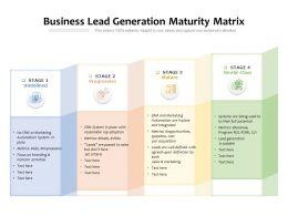 Business Lead Generation Maturity Matrix