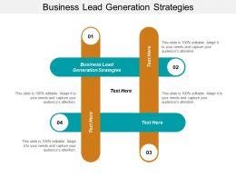 Business Lead Generation Strategies Ppt Powerpoint Presentation File Slides Cpb