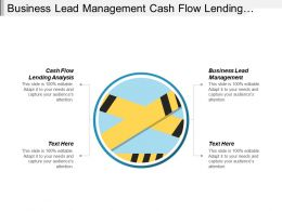 Business Lead Management Cash Flow Lending Analysis Business Planning Cpb