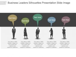 Business Leaders Silhouettes Presentation Slide Image