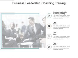 Business Leadership Coaching Training Ppt Powerpoint Presentation Pictures Examples Cpb