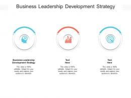 Business Leadership Development Strategy Ppt Powerpoint Presentation Show Images Cpb