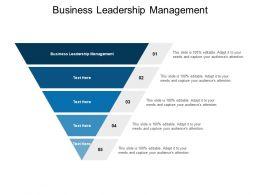 Business Leadership Management Ppt Powerpoint Presentation Outline Graphics Design Cpb