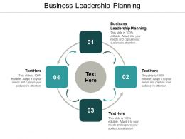 Business Leadership Planning Ppt Powerpoint Presentation Diagram Templates Cpb