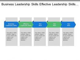 Business Leadership Skills Effective Leadership Skills Basic Leadership Skills