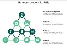 Business Leadership Skills Ppt Powerpoint Presentation Slides Themes Cpb