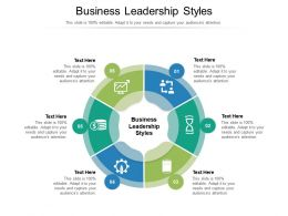 Business Leadership Styles Ppt Powerpoint Presentation Ideas Layout Ideas Cpb