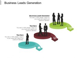 Business Leads Generation Ppt Powerpoint Presentation Ideas Gridlines Cpb