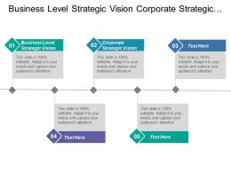 Business Level Strategic Vision Corporate Strategic Vision Strategy General