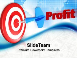 Business Level Strategy Definition Templates Dart Hitting Profit Ppt Slides Powerpoint