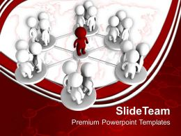 Business Level Strategy Definition Templates Global Network Leadership Ppt Process Powerpoint