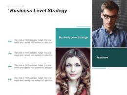 Business Level Strategy Ppt Powerpoint Presentation Portfolio Background Cpb