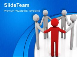 Business Level Strategy Templates Group Of People Leadership Chart Ppt Backgrounds Powerpoint