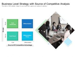 Business Level Strategy With Source Of Competitive Analysis