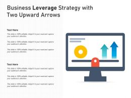 Business Leverage Strategy With Two Upward Arrows