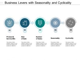 Business Levers With Seasonality And Cyclicality