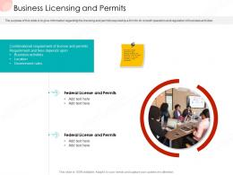 Business Licensing And Permits Business Procedure Manual Ppt Slides Deck