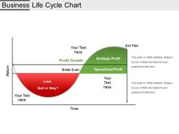 Business Life Cycle Chart Example Of Ppt