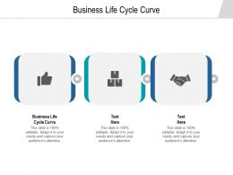 Business Life Cycle Curve Ppt Powerpoint Presentation Design Ideas Cpb