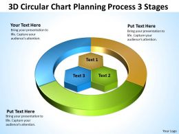 Business Life Cycle Diagram 3d Circular Chart Planning Process Stages Powerpoint Templates