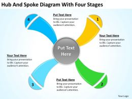 business_life_cycle_diagram_hub_and_spoke_with_four_stages_powerpoint_slides_Slide01