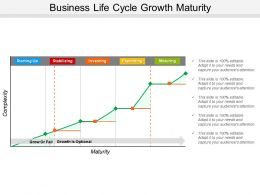 Business Life Cycle Growth Maturity Powerpoint Presentation