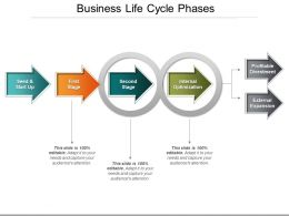 Business Life Cycle Phases Powerpoint Show