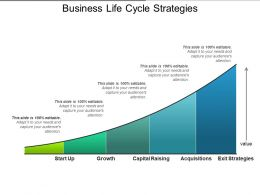 Business Life Cycle Strategies Powerpoint Slide Ideas