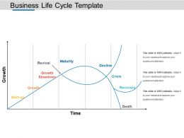 Business Life Cycle Template Powerpoint Slide Images