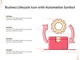 Business Lifecycle Icon With Automation Symbol