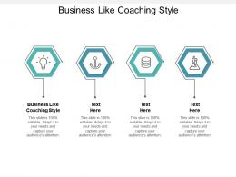 Business Like Coaching Style Ppt Powerpoint Presentation Portfolio Guide Cpb