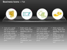 Business Line Chart Checklist Financial Management Ppt Icons Graphics