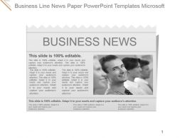 Business Line News Paper Powerpoint Templates Microsoft