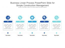 Business Linear Process Powerpoint Slide For Simple Construction Management Infographic Template
