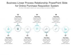 Business Linear Process Relationship Powerpoint Slide For Online Purchase Requisition System Infographic Template